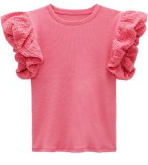 Zara majica sa kombiniranim rukavima