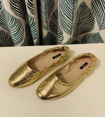 Nove Mango zlatne balerinke