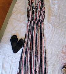 Lagana ljetna duga haljina na pruge