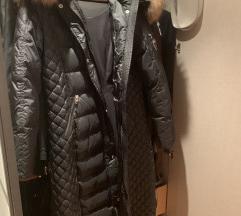 Duga zimska jakna sa krznom