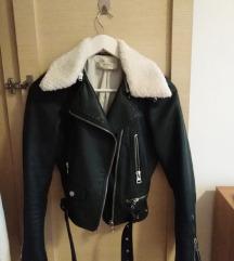 SNIŽENO Zara tamnozelena kožna jakna