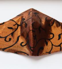 Ručno rađena maska za lice brončane boje