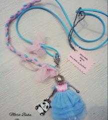 Plavo roza damica