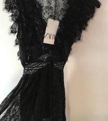 Zara maxi haljina sa 3d cipkom