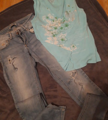 Jeans trapke+top