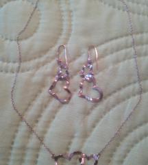Ogrlica i naušnice 925