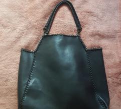 Reserved kozna crna torba