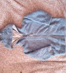 Čupava jaknica s ušima na kapuljači 86