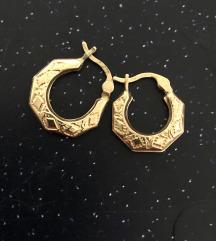 rezz Vintage zlatne naušnice 9ct