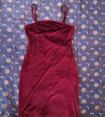 bordo , plišana haljina :)