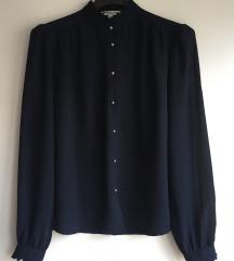 Tamnoplava vintage bluza