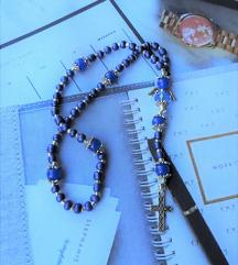 AKCIJA - unikatna mini krunica - plavi žad