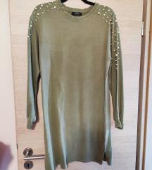 Bershka haljina s perlama