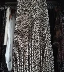 Mango plisirana animal print suknja