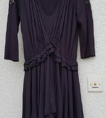 Danas 75kn💗Mango haljina sa volanima i čipkom M