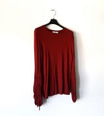 Crvena majica dugih rukava MANGO
