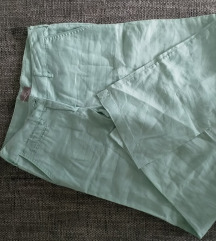 Nove lanene mint zelene mango široke hlače