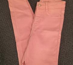Ružičaste Zara skinny traperice