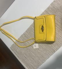 NOVA upečatljiva živahna žuta torbica