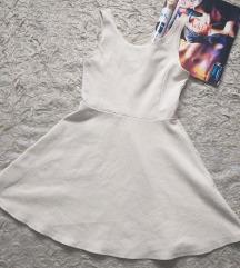 Bijela h&m skater haljina