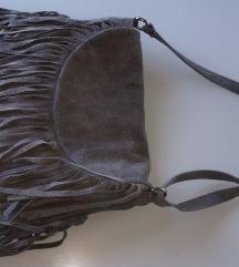 Kožna siva torbica 🐘🐘🐘