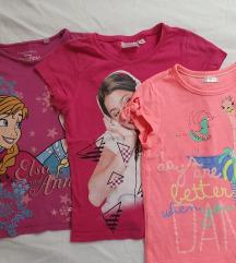 SNIŽ% Lot 3 majice Frozen, Violetta i šljokice :D