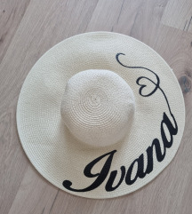 Nov šešir s natpison Ivana handmade