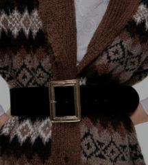 Zara wide velvet belt w square buckle