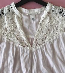 H&M boho bijela bluza