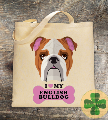 Eko Torba / Tote Bag / Love English Bulldog
