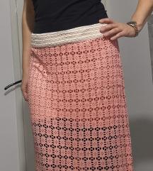 Ljetna roza duga suknja, br. 38