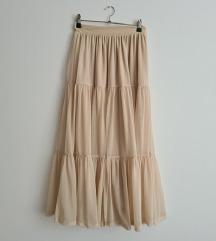Zara maxi suknja od tila