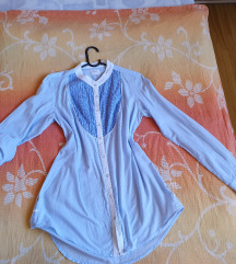 Only plava košulja tunika