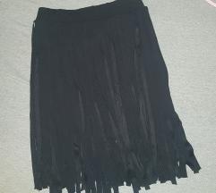 Suknja sa resama