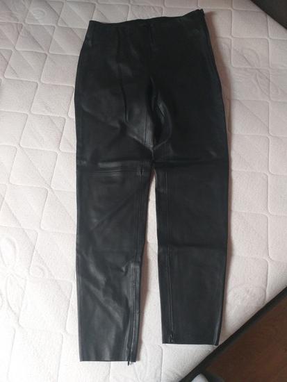 Kožne crne hlače