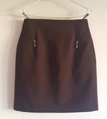 Nova pencil suknja, boja čokolade