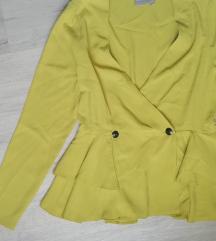%%% Asos žuti peplum blazer sa PT