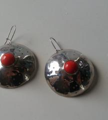Unikatne srebrne naušnice