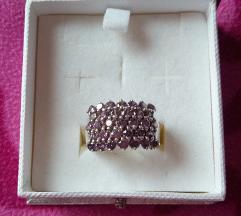 Srebrni novi prsten sa sirkonima - pr.2cm