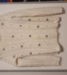 Bershka bijeli džemper