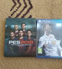 FIFA I PES 2018 ZA PS4