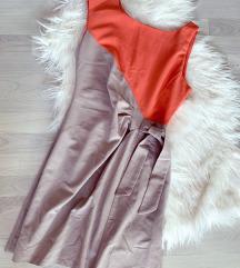 Uska haljina sa mašnicom  - kao novo