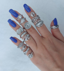 srebrni prsteni 17 mm