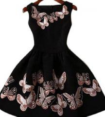 Crna haljina s leptirima
