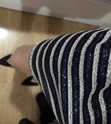 Šljokičasta haljina na prugice Zara