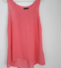 Roza bluza sa mašnom poluprozirna 36