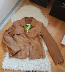 Sniženoo 300 kn! 😊💕 Smeđa jakna od prave kože