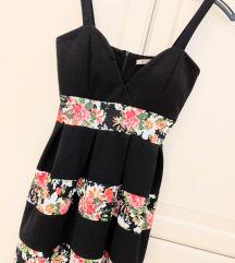 Crno cvjetna haljina
