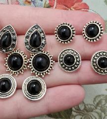 Vintage crne naušnice