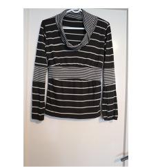 Majica tunika prugice smeđa veličina S